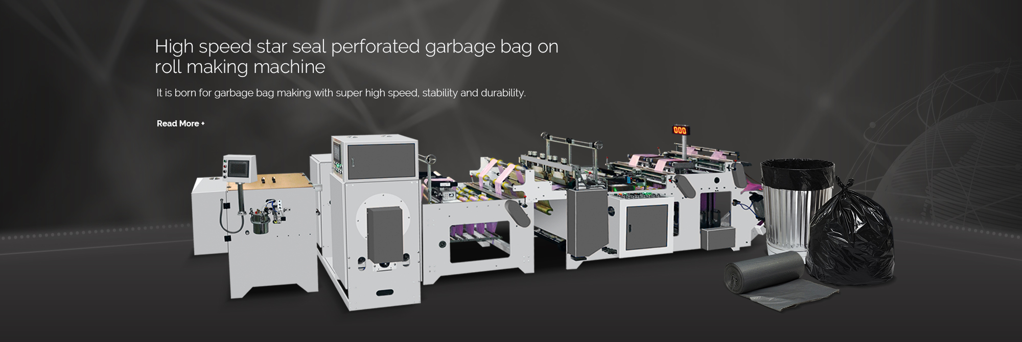 High speed star seal perforated garbage bag on roll making machine